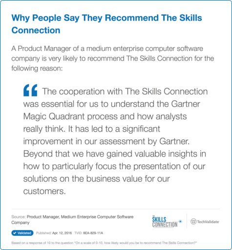 Why People Say They Recommend The Skills Connection