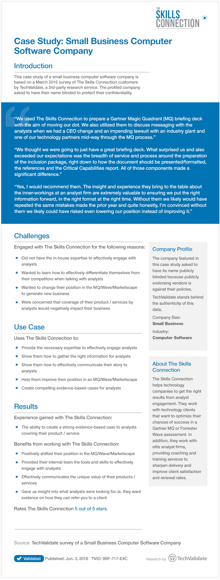 Case Study: Small Business Computer Software Company