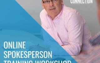Online spokesperson training workshop